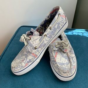 EUC Printed Canvas Sperry